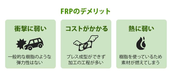 FRPのデメリット
